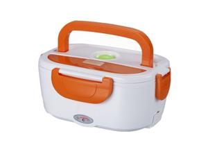 Portable Electric Heating Lunch Box - Container for Carrying and Warming Meals (Orange)