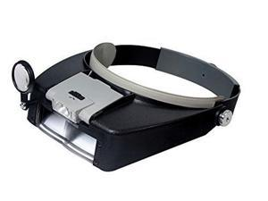 Wearable Magnifying Glasses with LED Work Light (Head Visor Style Magnifier, New 2017 Model)