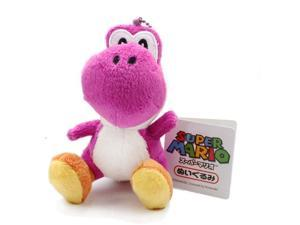 "Sanei Super Mario Plush Series Doll: 5"" Purple Yoshi Mascot Strap"