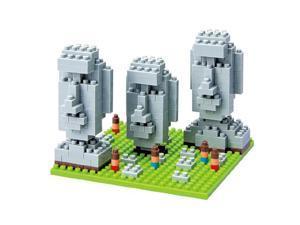 Nanoblock MicroSized Building Block Figure Moai Statues on Easter Island