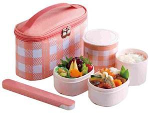 Zojirushi SZ-GD02PM Mini Bento Stainless Lunch Jar, Coral Pink