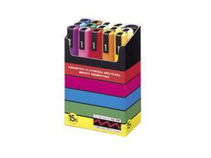 Uni-posca PC-5M Paint Marker Pen - Medium Point - Set of 15