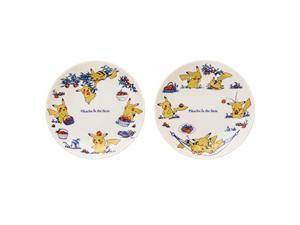 Pokemon Center original plate 2 piece set-Pikachu in the farm