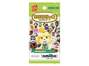Animal Crossing Card amiibo [Animal Crossing Series] First Edition 5 pack set