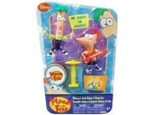 Disney Phineas and Ferb 2Pack Figure Set Guitar Drum