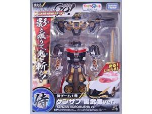 Transformers Go! Limited edition Samurai team No. 1 Kenzan black warrior ver. [Toys R Us Limited Edition] (japan import)