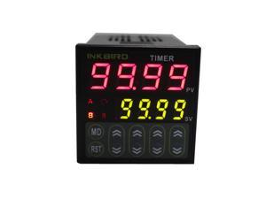 Inkbird Digital Twin Timer Relay Time Delay Relay Switch 110-220V Black,Timing Control with LCD Display
