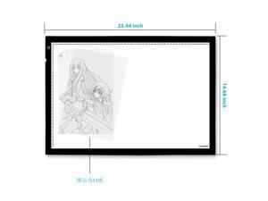 Huion A2 LED Ultra Thin Light Pad Super Bright Light Box Tattoo Tracing Board