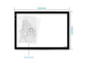 Huion A2 LED Ultra Thin Light Pad Super Bright Light Box Tattoo Tracing Board