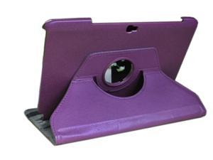 For Samsung Galaxy Note 10.1 N8000 N8010 N8013 360° Rotating Leather Case + Film Purple