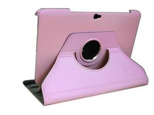 For Samsung Galaxy Note 10.1 N8000 N8010 N8013 360° Rotating Leather Case + Film Pink
