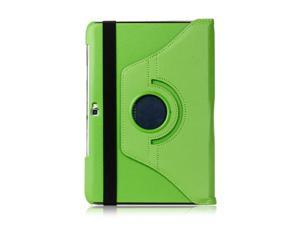 For Samsung Galaxy Note 10.1 N8000 N8010 N8013 360° Rotating Leather Case + Film Green