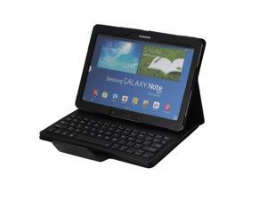 Removable (Detachable) Bluetooth Keyboard Leather Case Cover for Samsung Galaxy Note 10.1 2014 Edition P601 P600 Black