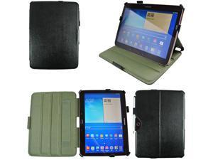 For Samsung Galaxy Tab 3 10.1 P5200 Heat Setting Leather Holder Case + Stylus Black