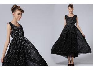 2014 New Fashion Floral Women Chiffon Vintage Dholiday Party Long Vogue Dress