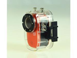 Mini Waterproof Sport Action Camera Helmet Camcorder SJ1000 Full HD 1080P 12MP Diving Motorcycle Bike Hunting DVR 140° Wide Angle Lens 32GB HDMI Car camera (Red)