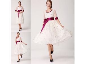 New Women White Color Ball Gown Net Yarn Dress Skirt