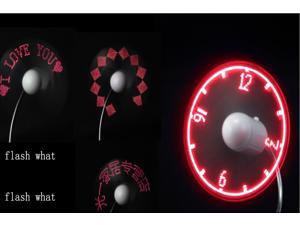 USB Powered Programmable LED Message Fan Cooling Cooler Fans