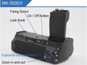 Battery Grip For Canon EOS 550D 600D 650D Vertical Shoot Box Case Vertial Shooting Handle