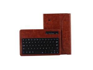 """Detachable Wireless Bluetooth Keyboard Leather Case Cover For Samsung Galaxy Tab 4 8""""  8inch T330 Brown"""