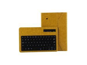 """Detachable Wireless Bluetooth Keyboard Leather Case Cover For Samsung Galaxy Tab 4 8""""  8inch T330 Yellow"""