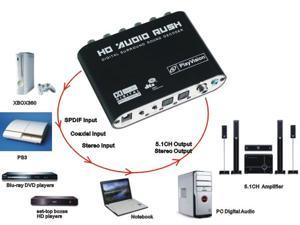 New SPDIF Coaxial to 5.1/2.1 Channel AC3/DTS Audio Decoder Gear Surround Sound Rush for PS3,STB, DVD player, HD player