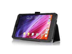 "Hand Holder Wallet Card PU Leather Case  Cover For Asus MeMO Pad 8 ME181C 8.0"" Tablet (Black)"