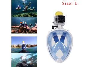 Snorkeling Mask Diving Swimming Equipment Wide View For GoPro SJ4000 Sports Camera(Blue)