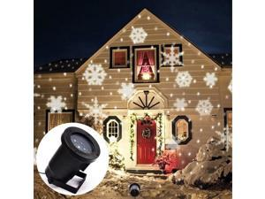 LED Snowflake Lights Projector Christmas Garden Decoration Auto Moving Snowflake Indoor Outdoor