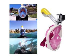 Snorkel Mask Full Face Diving Swimming Goggles Easybreath Anti-Fog Waterproof For GoPro