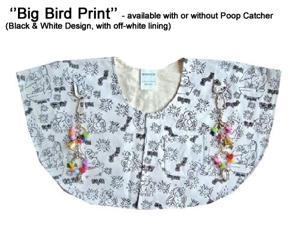 "Protective Shoulder Cape for Bird Owners - "" Big Bird "" with Poop Catcher"