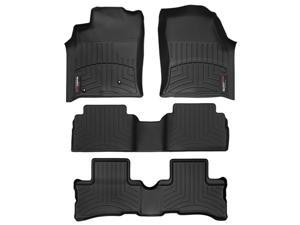 2011-2012 Cadillac Escalade ESV Black WeatherTech Floor Liner (Full Set) [2nd Row Bucket Seating]