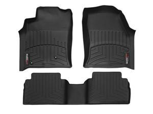 2013 Dodge Ram Truck 1500 Quad Cab Black Weathertech Floor Liners (Full set: 1st and 2nd Row) [Driver and Passenger-Side Floor Hooks]