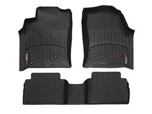 2011 GMC Yukon [Non-Hybrid] Black WeatherTech Floor Liner (Full Set) [Bench Seating]
