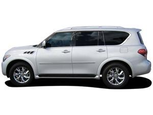 Painted Body Side Molding with Chrome Insert for Infiniti QX56 (2011-2013) Moonlight White Pearl QAA