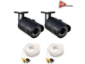 Q-See 1080p HD Bullet Security Camera 2-Pack: 2MP, 3.6mm Lens, 24 IR LEDs up to 80ft, 2D-DNR, BLC, AGC, IP66 - QCA8050B