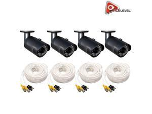 Q-See 1080p HD Bullet Security Camera 4-Pack: 2MP, 3.6mm Lens, 24 IR LEDs up to 80ft, 2D-DNR, BLC, AGC, IP66 - QCA8050B