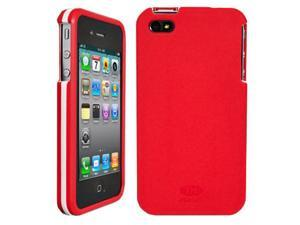 OEM AGF Beetle Shell Two-Piece Frame Case, Apple iPhone 4 4S - Red & White