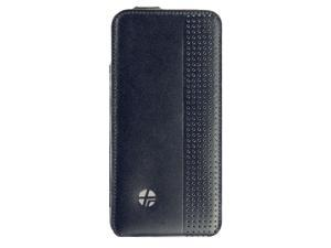 Trexta Genuine Leather Sleek Thin Flip Case for iPhone® 5/5s (Black)