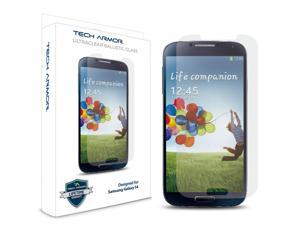 Tech Armor Samsung Galaxy S4 (Not S4 ACTIVE) Premium Ballistic Glass Screen Protector - Protect Your Screen from Scratches ...