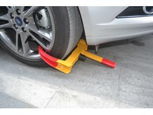 Heavy Duty Wheel Lock Clamp Boot Tire Claw Trailer Auto Car Truck ATV, RV, Golf Carts, Automotive, Boat Trailers, Scooters, Go Karts, Lawn Mowers, Vehicle Anti-Theft Towing Parking