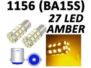 1156 BA15S 27 SMD 5050 LED Yellow Amber RV Tail Turn Signal Car Light Bulb Lamp by Autolizer