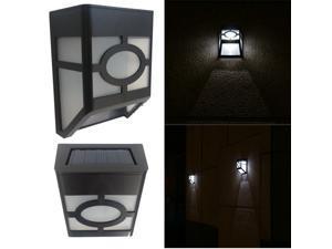 Solar Powered Wall Mount 2 LED Lantern Light Outdoor Landscape Garden Lamp IP44