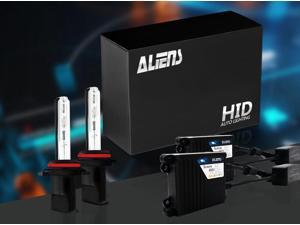 Aliens H11/H8/H9 5K 35W Slim Digital Ballast HID Xenon Conversion Kit Single Beam For Headlights or Fog Lights - 5000K - White - Metal Case & Compact Size