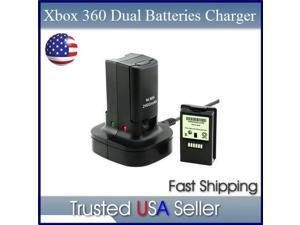 Controller Battery Charger Dock+2 Rechargeable Battery Compatible with Xbox 360