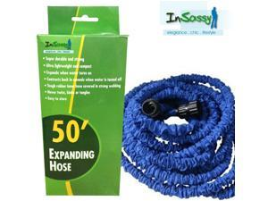 Blue Expandable Hose with Sprayer 50 Feet