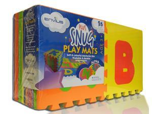 "EnviUs Snug Plus Play Mat Alpha: Formamide Free Ultra Thick 26 Pieces 12"" x 12"" x 9/16"" (Snug Plus Series w/ FREE Borders)"