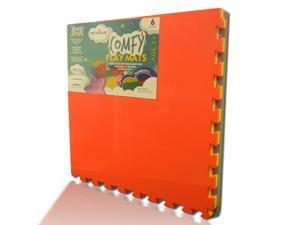 "EnviUs Cushy Plus Play Mat Rainblow 6 : Formamide Free Ultra Thick & Large 6 Pieces (6 Colors) 24"" x 24"" x 9/16"" (Cushy Plus Series w/ FREE Borders)"
