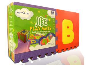 "EnviUs Jibe Play Mat Alpha : Formamide Free 26 Pieces 12"" x 12"" x 6/15"" (FREE Borders)"