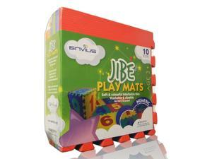 """EnviUs Jibe Play Mat Numeric : Formamide Free 10 Pieces 12"""" x 12"""" x 6/15"""" (FREE Borders)"""